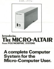 A view of the vintage Micro-Altair from Polymorphic Systems an important part of computer history